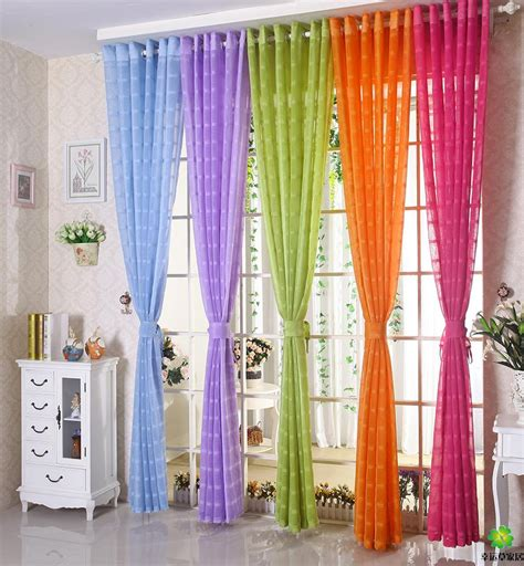 purple and orange curtains free shipping multicolors sheer curtain white purple blue
