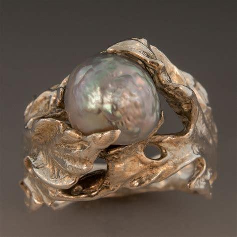 sterling silver ring w keshi pearl