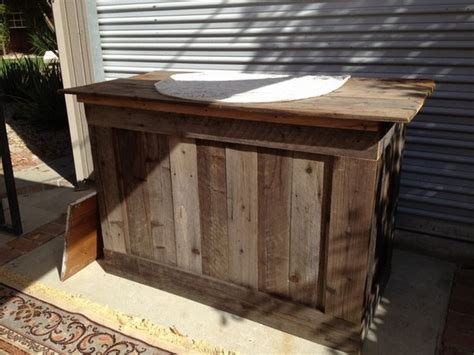 outside bar top ideas rustic bar top ideas rustic bar made from reclaimed wood