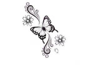 Design Vorlage Mode Schmetterling Blumen Vorlage Design