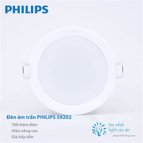Philips Downlihgt Led 59202 7w 35 苣 232 n led 226 m tr蘯ァn philips 59202 7w c 244 ng ty 193 nh s 225 ng