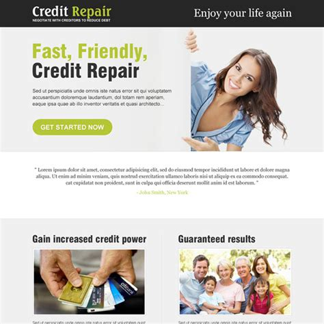 how to fix credit fast to buy a house credit repair business service responsive landing page design templates to boost your