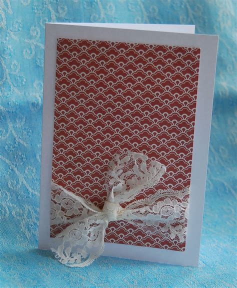 And Handmade - lacy handmade card handmade cards