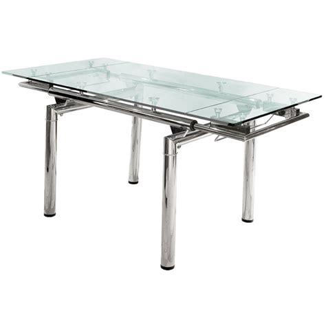 mesa de comedor extensible vidrio cromada 1 40 x 0 90 a - Mesas De Comedor De Vidrio Extensibles