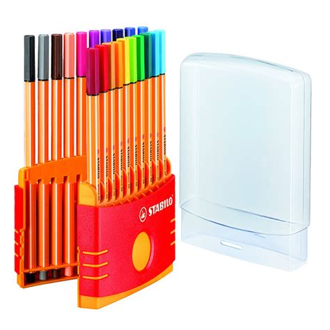 Stabilo Set 9 Warna stabilo point 88 fineliner pen colourparade set of 20 cult pens