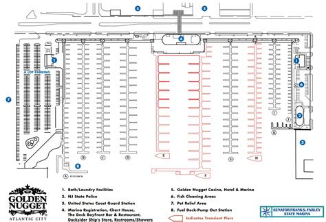 golden nugget hotel layout map dock layout golden nugget atlantic city