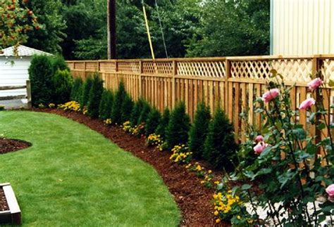 landscaping ideas for backyard near fences pdf