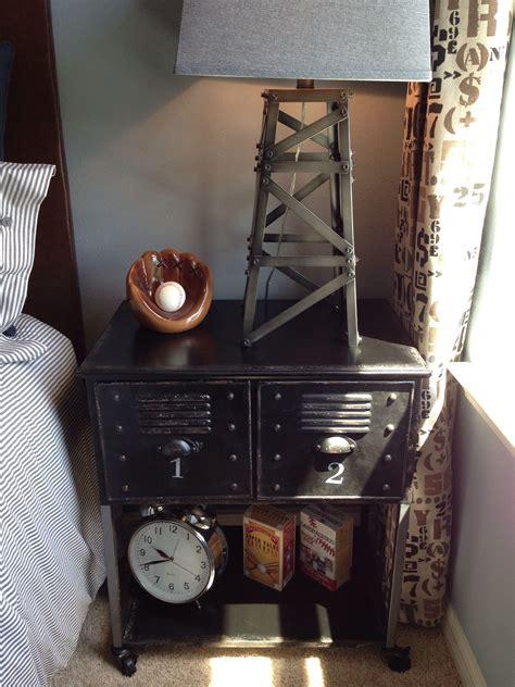 Locker Style Nightstand by Baseball Locker Nightstand Home