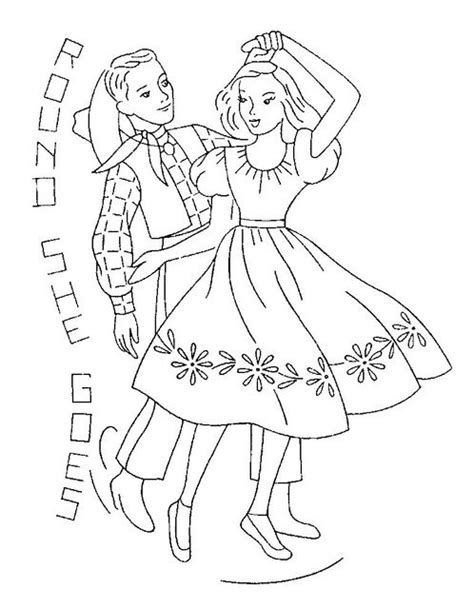 chicken dance coloring page 18 best images about square dance embroidery on pinterest