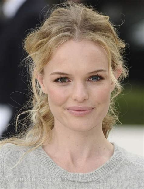 kate bosworth 20 celebrities with round faces beauty kate bosworth sports playful owl sweater at london fashion
