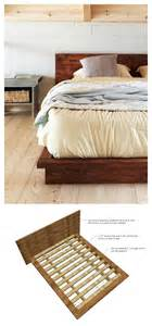 Diy Platform Bed White Rustic Modern 2x6 Platform Bed Diy Projects