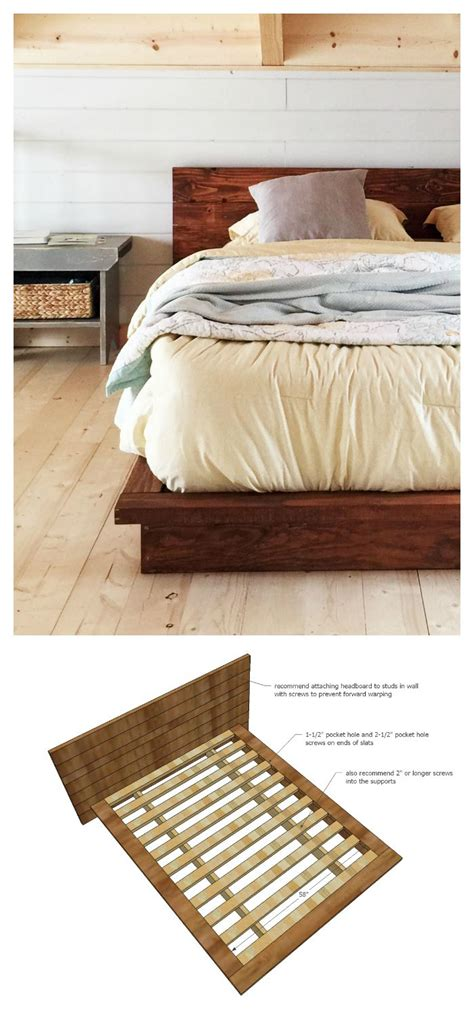 Build Platform Bed Rustic Modern 2x6 Platform Bed White Bloglovin