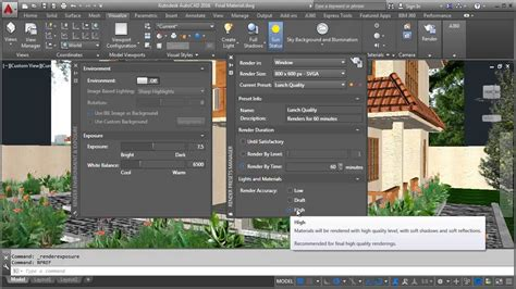 autocad 2007 3d tutorial render autocad 2016 render settings simple steps youtube