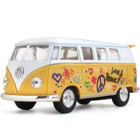 volkswagen van hippie 1963 scale model vw volkswagen hippie cer van bus toy