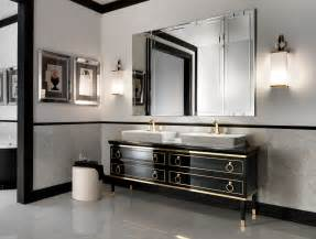 Kitchen Faucets High End Lutetia L1 Luxury Italian Bathroom Vanity In Black Lacquer