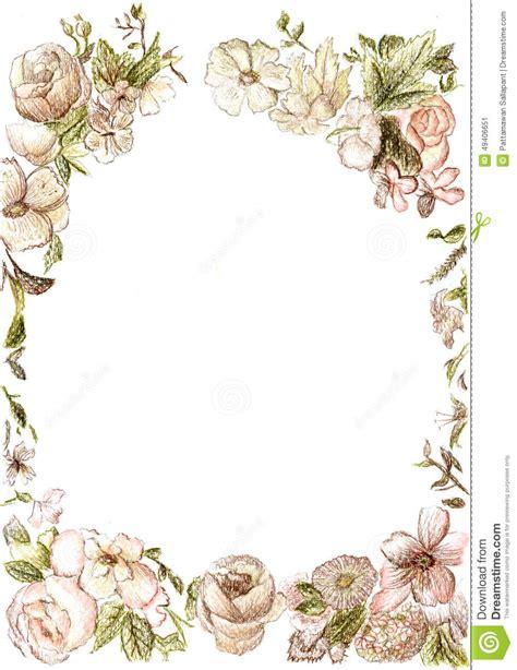 Bingkai Foto Frame Shabby frame clipart vintage flower pencil and in color frame