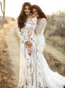 gale stuns as she models bridal wear with home