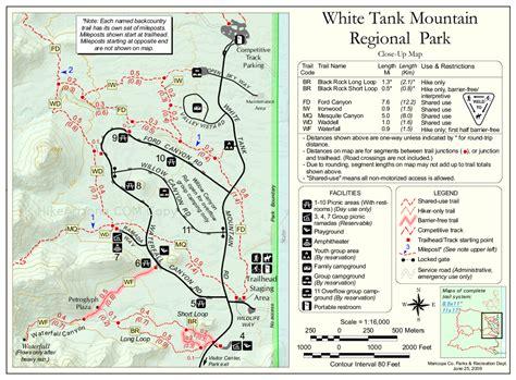 white mountains arizona map mesquite trail white tanks hiking arizona