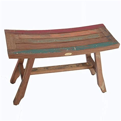 boat bench 29 quot satori salvaged reclaimed recycled boat wood bench