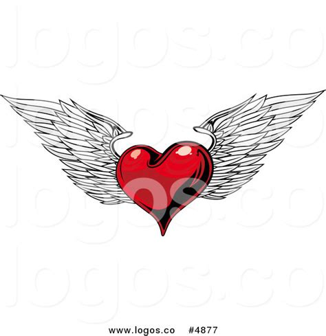 heart wing logo clip art vector clip art online royalty royalty free vector of a winged heart logo by seamartini