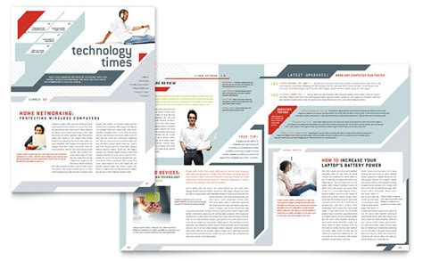 Computer Solutions Newsletter Template   Word & Publisher
