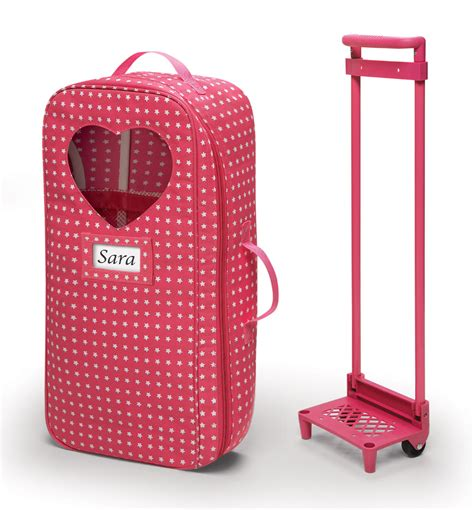 american girl doll travel bed 18 inch doll bed travel carrier trolley with foldable bed
