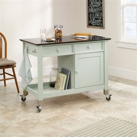 kitchen mobile island sauder original cottage mobile island rainwater kitchen