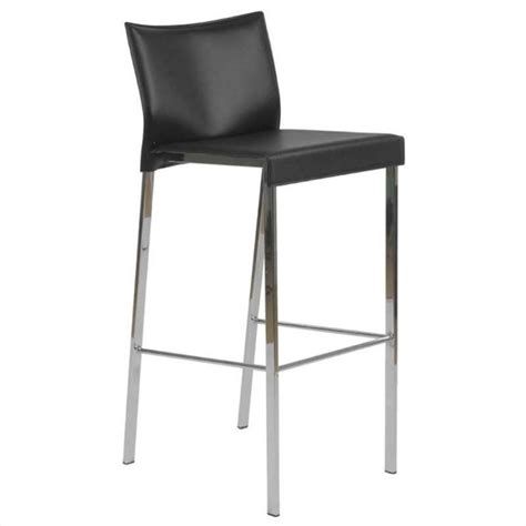 chrome and leather bar stools 30 quot bar stool in black leather and chrome 17223blk