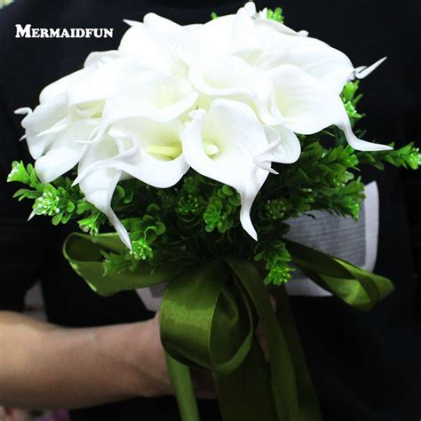 Wedding Bouquet Real Or by 2018 Real Images Artificial Calla Flower Wedding Bouquet