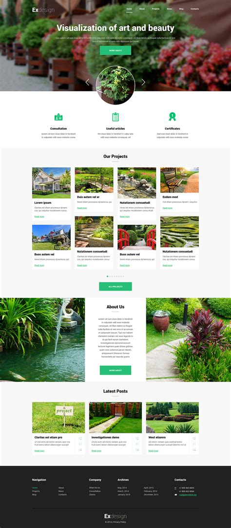 backyard landscape design templates 15 joomla templates with parallax effects free templates