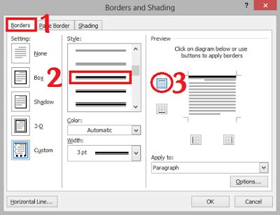cara membuat garis di microsoft office word 2007 cara mudah membuat garis kop surat di microsoft word 2007 2010