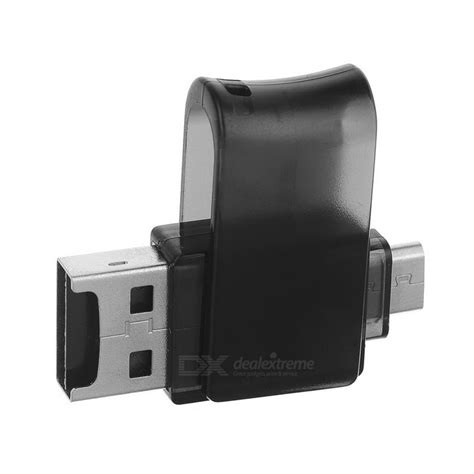 Card Reader Rotary rotary usb 2 0 to micro usb otg adapter tf card reader black free shipping dealextreme