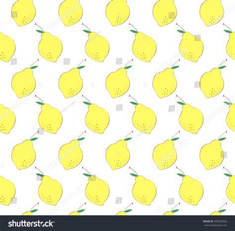 cute lemon pattern cute lemon leaf on white background stock vector 450629566