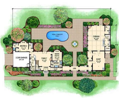 Two Story Mediterranean House Plans by Mediterranean Style House Plans 2502 Square Foot Home 2