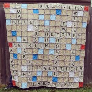 o sew many rags scrabble rag quilt