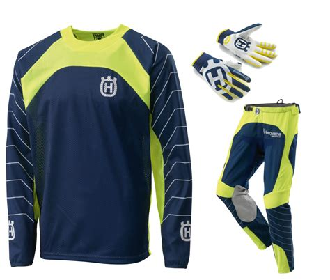 husqvarna motocross gear aomc mx 2016 husqvarna railed gear set blue