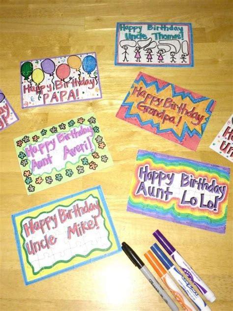 unique diy birthday cards