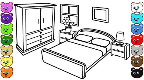 bedroom for coloring learn colors for kids with mom and dad s bedroom