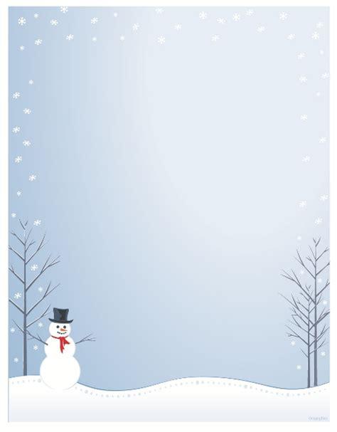 printable snowman stationery christmas letter head new calendar template site