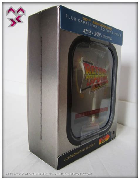 back to the future flux capacitor dvd shelter destination point for back to the future trilogy box 30th anniversary