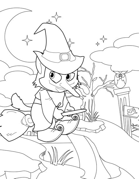 witch costume halloween coloring page witch coloring page handipoints