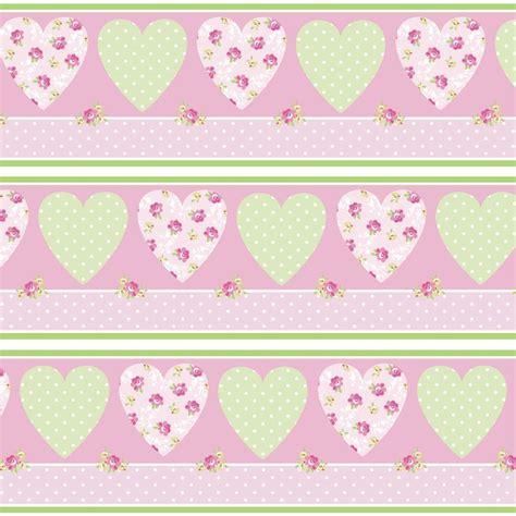 self adhesive wallpaper borders uk pretty flowers hearts self adhesive wallpaper border 5m ebay
