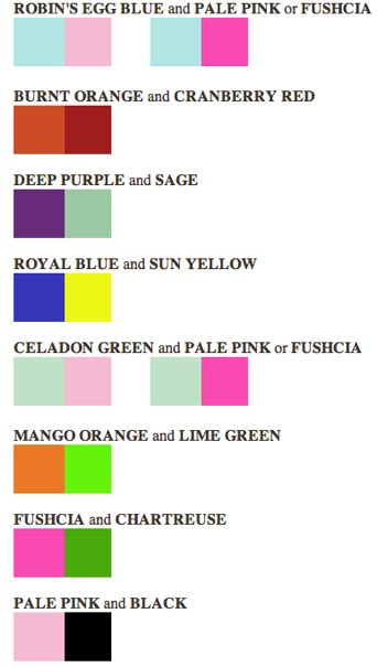 trendy color combinations wedding color combinations image search results