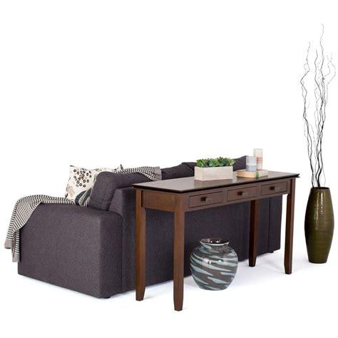 simpli home artisan medium storage simpli home artisan medium auburn brown storage console