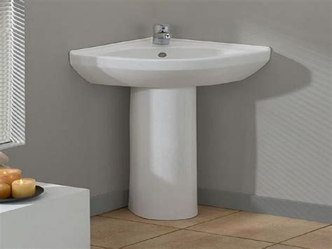 corner pedestal sinks for small bathrooms modern bathroom cool corner pedestal sinks for small