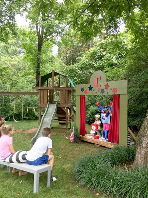 diy backyard theater our diy kids backyard theater emily a clark