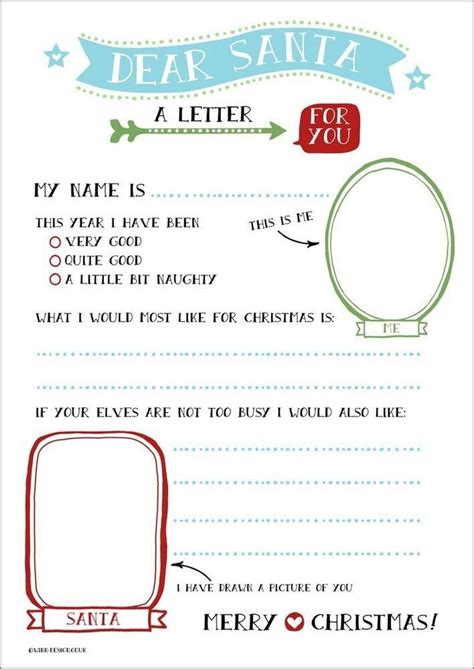 letter santa templates printable letters