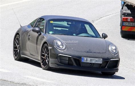 porsche 911 gts black 2017 porsche 911 targa gts revealed in spyshots with black