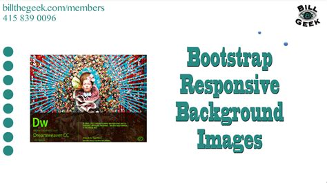bootstrap tutorial with dreamweaver dreamweaver bootstrap responsive background images
