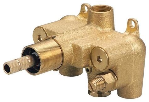 single handle 3 4 quot thermostatic shower valve with stops